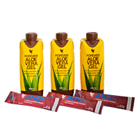 Tripak Aloe Vera Gel mini 3 x 330 ml plus ARGI+ 3 saszetki x 10 g